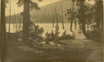 Campers at Water's Edge in the High Sierras