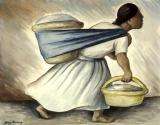 Woman Carrying Two Baskets